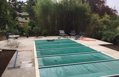 Création d'une terrasse béton au pourtour de la piscine