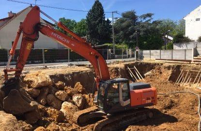 Terrassement pleine masse de 2000 m³ pour un promoteur immobilier