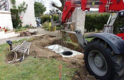 Mise en place d'une fosse toutes eaux