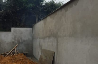 Fin de création d'un mur de soutènement